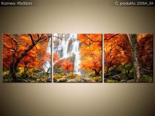 Tlačený obraz Jesenný vodopád 90x30cm 2335A_3A