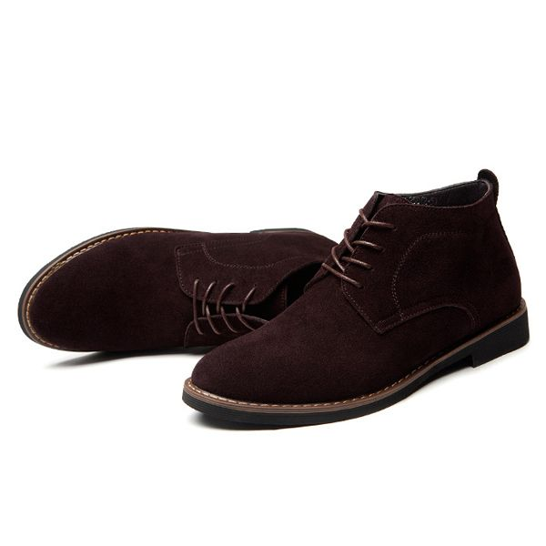 Lace Up Soft Leather Business Round Toe Oxfords Formal Shoes - US$63.31