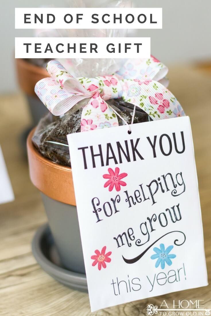 Diy teacher appreciation gifts for end of school year