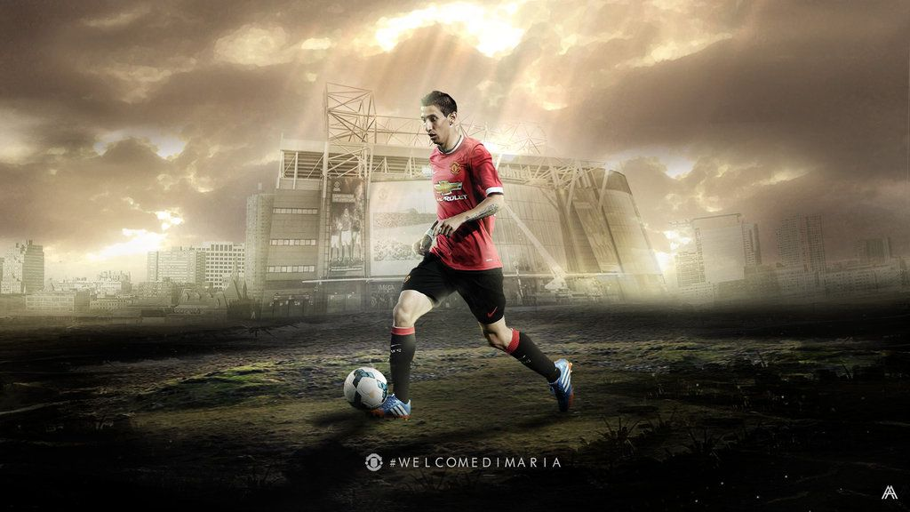 Angel Di Maria Wallpaper Manchester United By Albertgfxdeviantart