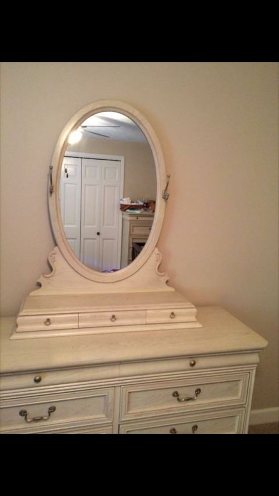 French Lexington Bedroom Set Desk Chair Mirror Pr Dresser Bed 8 Pc Vtg Desk Chair Bedroom Set Dresser Bed