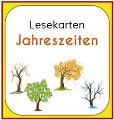 Lesekarten Jahreszeiten Jahreszeiten Unterricht Kindergarten Leseforderung