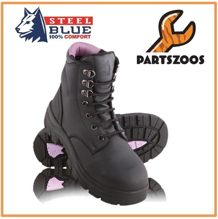 719e37059b9 Steel Blue Argyle Ladies Safety Toe Cap Boots 512702 Black   Future ...
