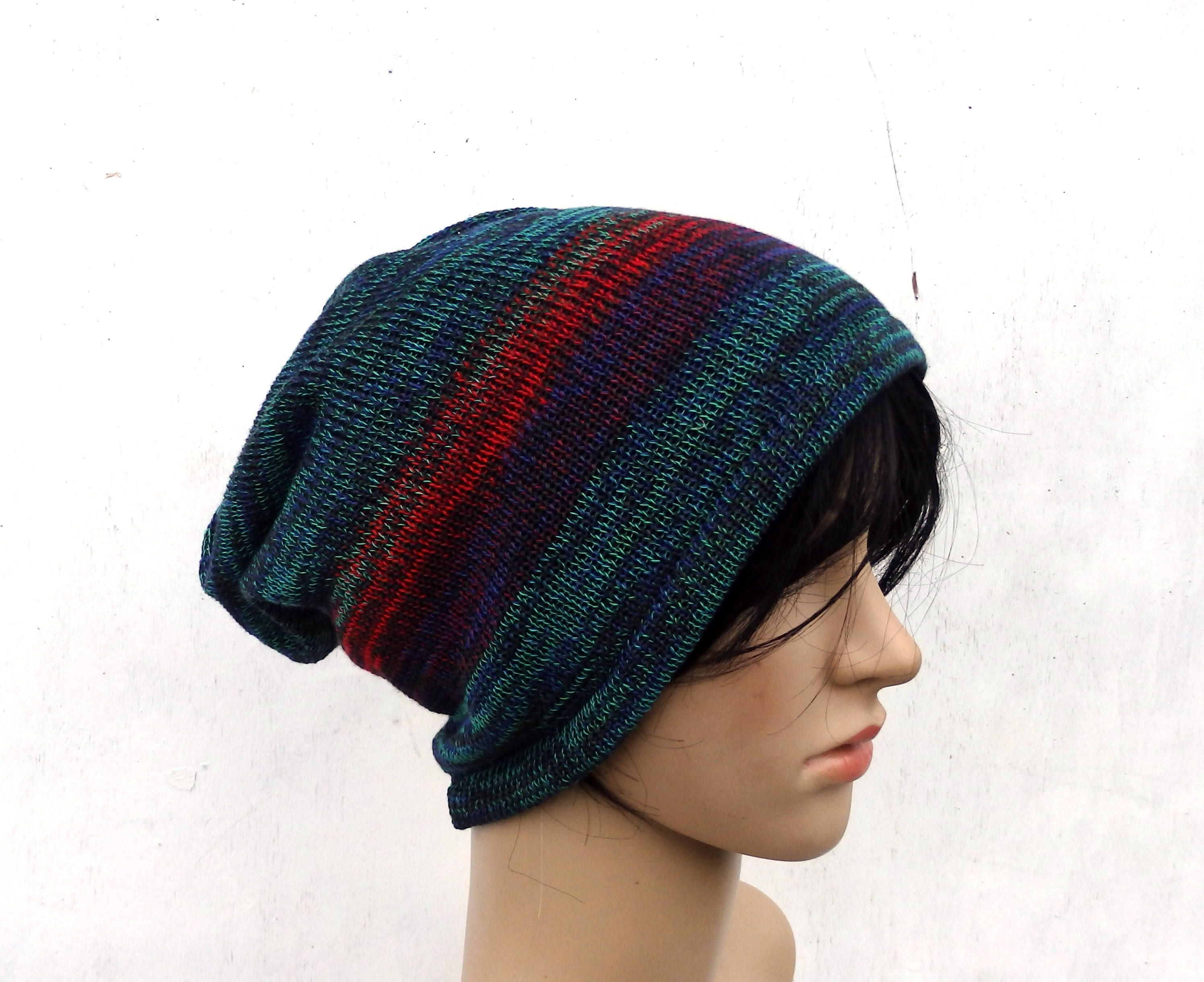 ff1e50257 Hat, knitted cotton hat, knitting colorful summer beanie, knit ...