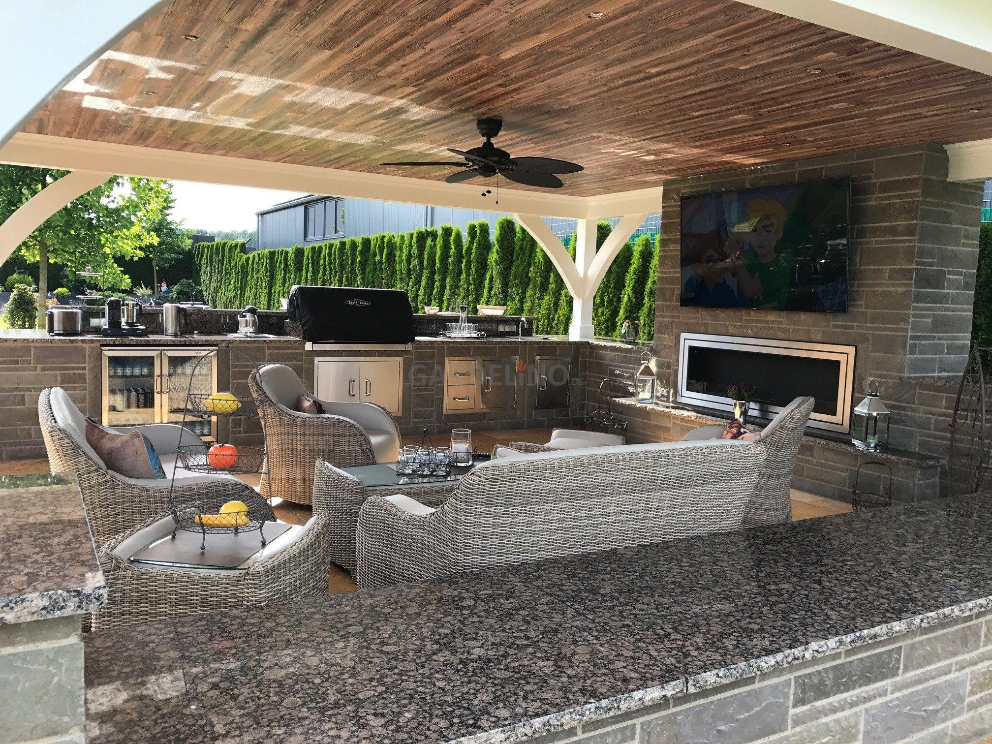 Outdoor Küche Reihenhaus : Luxus outdoorküche mit beefeater grill joko domus teppanyaki grill