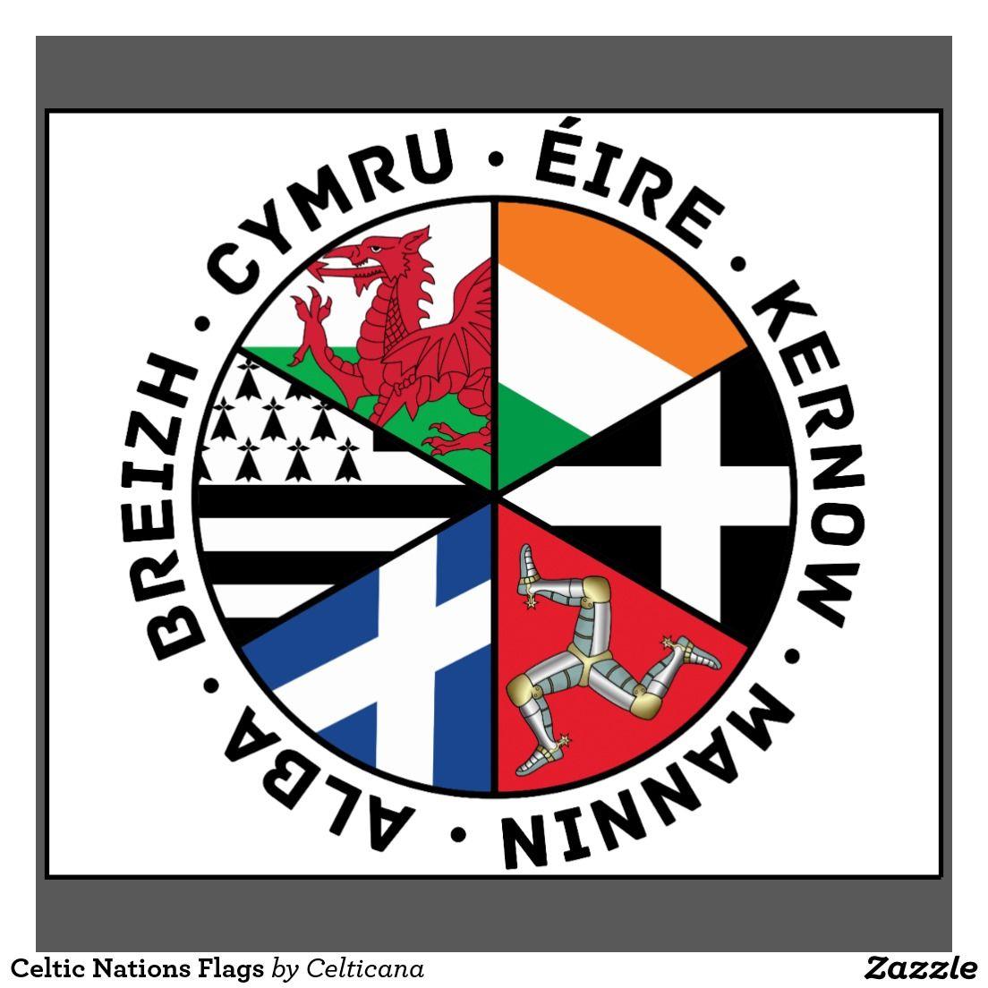 Celtic Nations Flags T Shirt Zazzle Com Celtic Nations Black Stickers Celtic