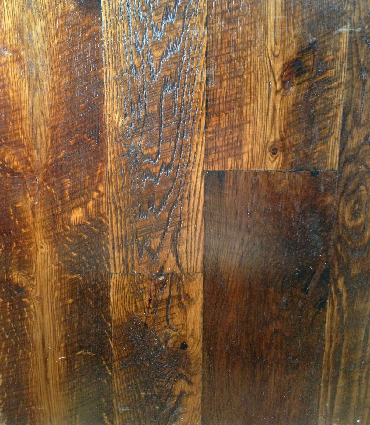 Tobacco Stained Vertical Plank Walls: Tobacco Stained Reclaimed Barn Wood Flooring