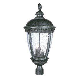 Lowes 278 Acclaim Lighting Fleur De Lis 28 In H Stone Post Light