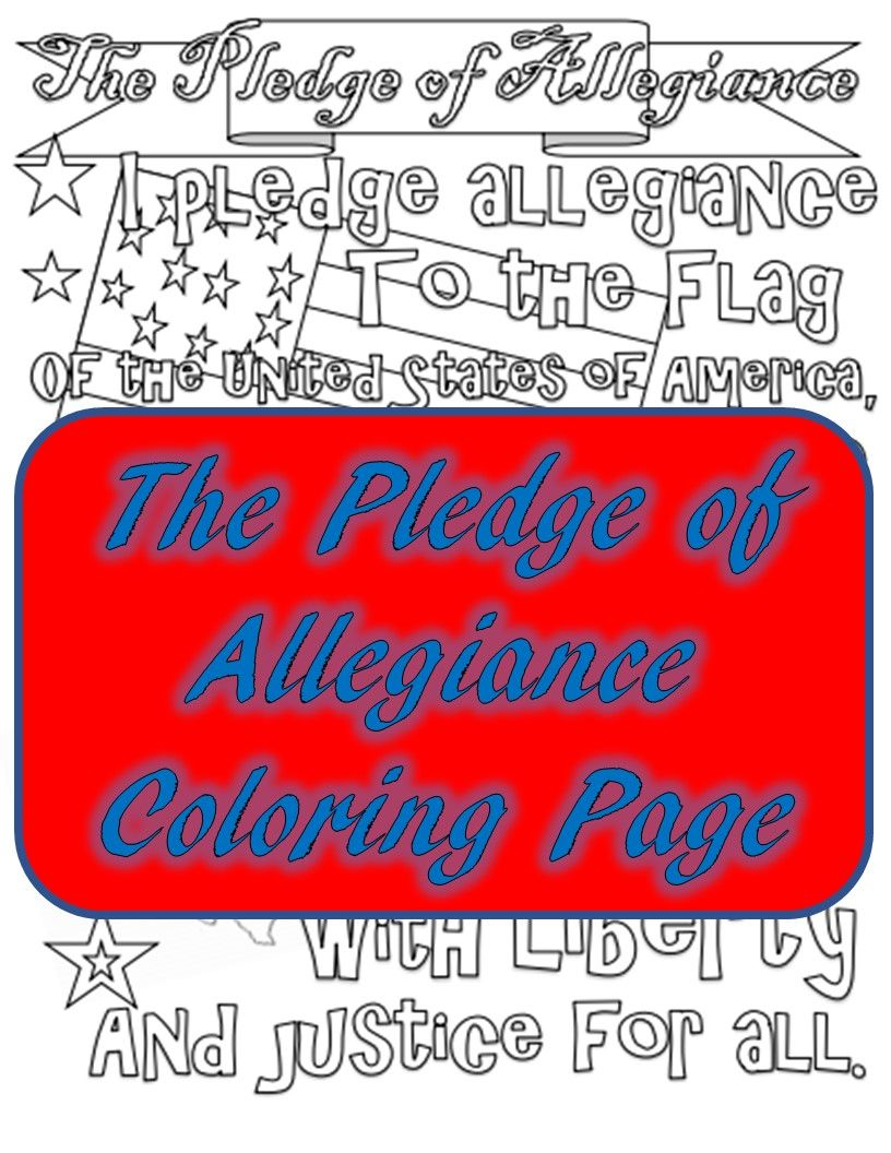 The Pledge Of Allegiance Coloring Page Pledge Of Allegiance