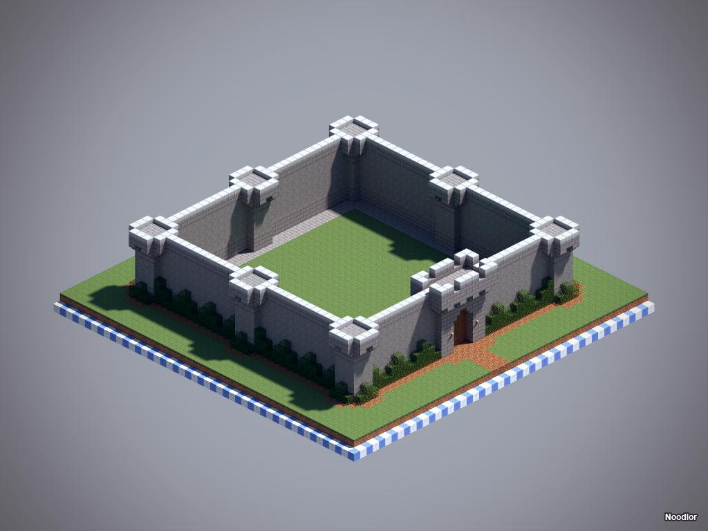 MCNoodlor Castle Walls Minecraft MCNoodlor Pinterest
