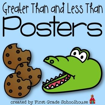 Greater Than And Less Than Posters Vocabulary Word Walls Math Vocabulary Words Greater Than