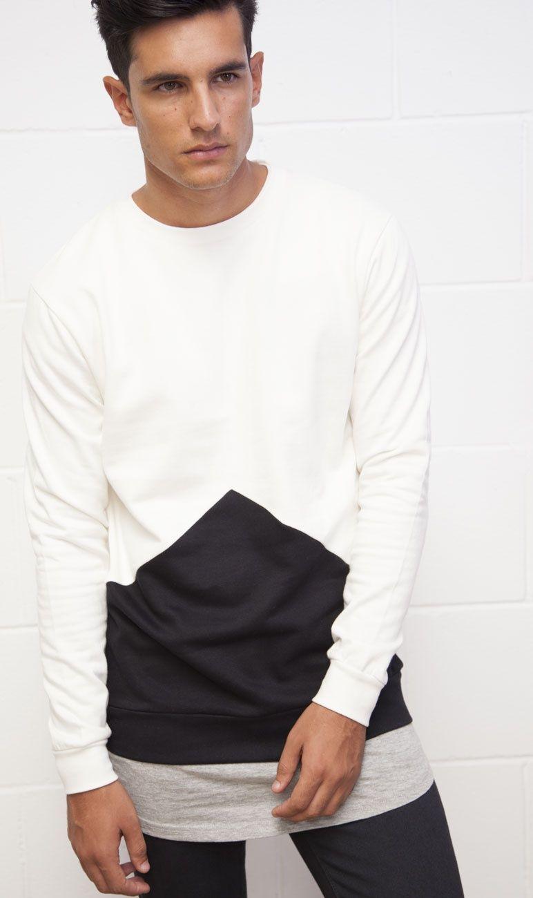 Sudadera Blanco y Negro - Moda online  a24aab4fd8c