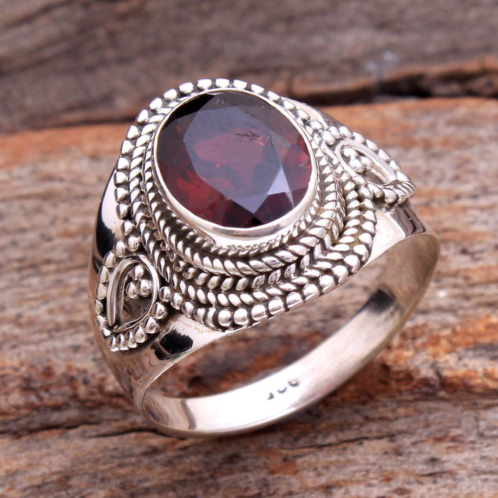 Sterling Silver Rose 10x5 Marquise Gemstone /& Round Created White Sapphire Ring