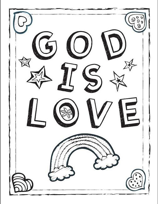 God S Love Coloring Pages Sunday School Coloring Pages Love Coloring Pages Valentine Coloring Pages