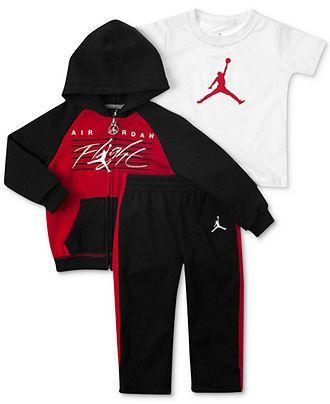 2f79f3bf73fe14 Jordan Baby Boys 3-Piece Hoodie