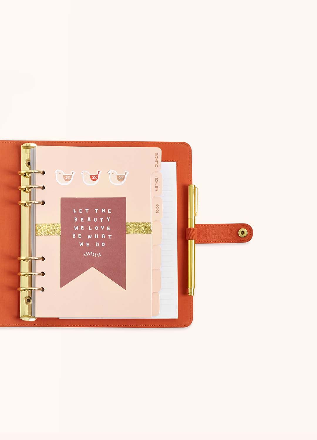 Plan and organise your days beautifully with this gorgeous kikki.K Tangerine Planner.