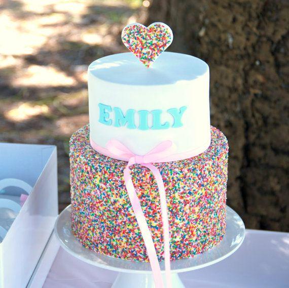 Rainbow Sprinkle Cake First Birthday Cake Noosa Sunshine Coast