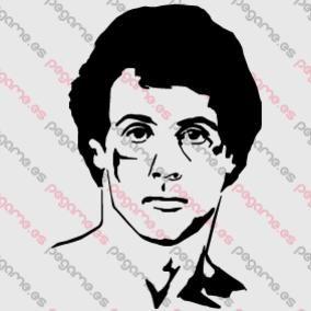 Pegame.es Online Decals Shop  #face #celebrity #cinema #realistic #stallone #rocky #vinyl #sticker #pegatina #vinilo #stencil #decal