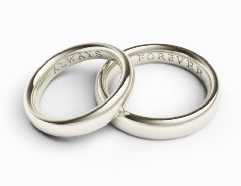 Personalize Your Wedding Rings With The Perfect Engraved Inscription