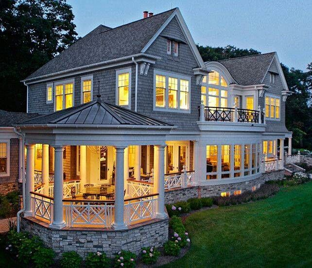 Beautiful house Love the gazebo porch Looks ready for a outdoor