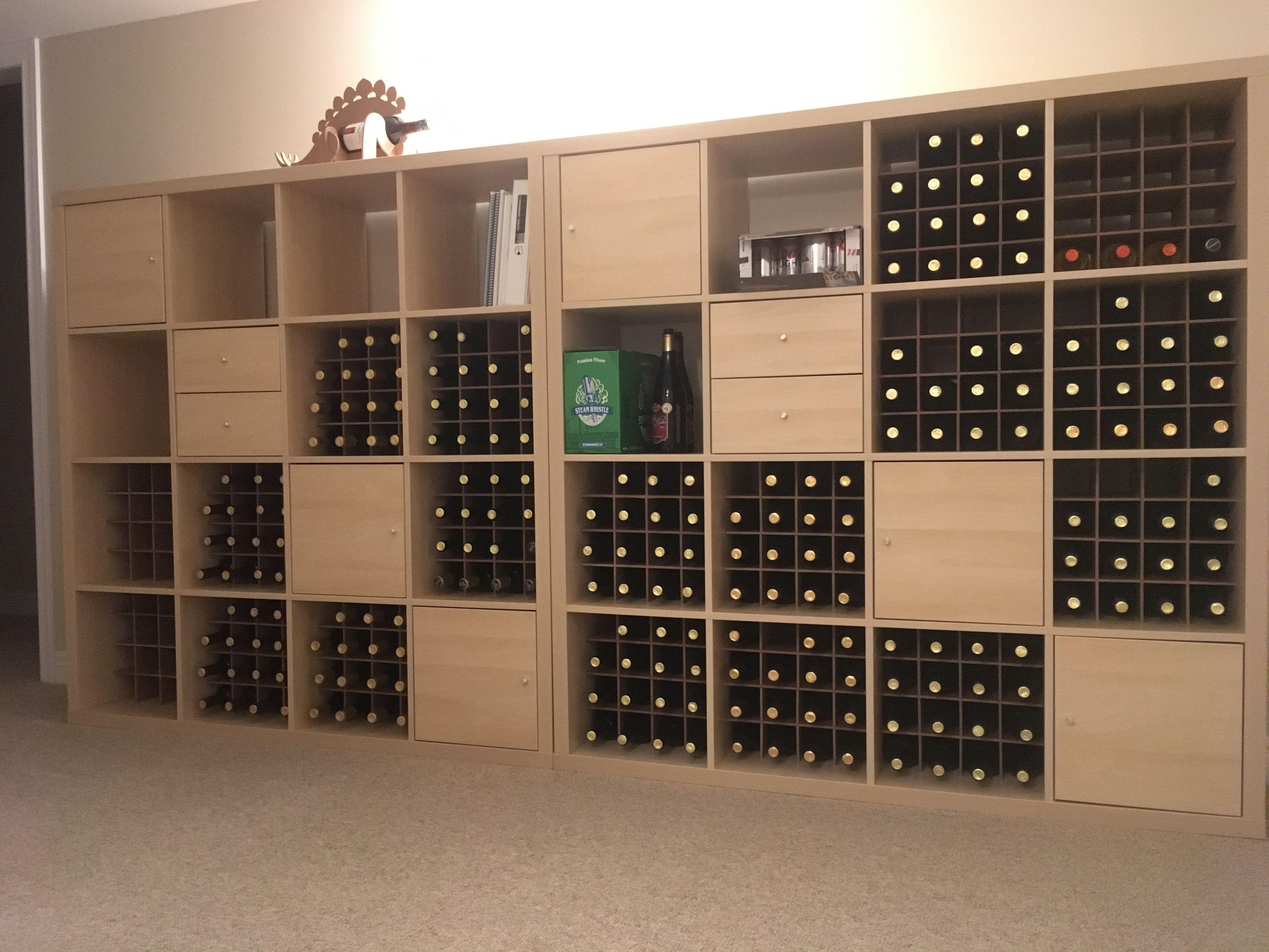 Ikea Hack Wine Rack From Kallax Shelf Units Inside
