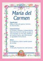 Maria Del Carmen Significado De Maria Del Carmen Tuparada Com Names With Meaning Baby Girl Names Lettering Alphabet