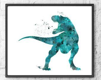 Good Dinosaur Watercolor Print, Arlo Watercolor Art, Dinosaur Art Print, Movie Poster, Wall Art, Kids Room Decor, Nursery Decor - 471