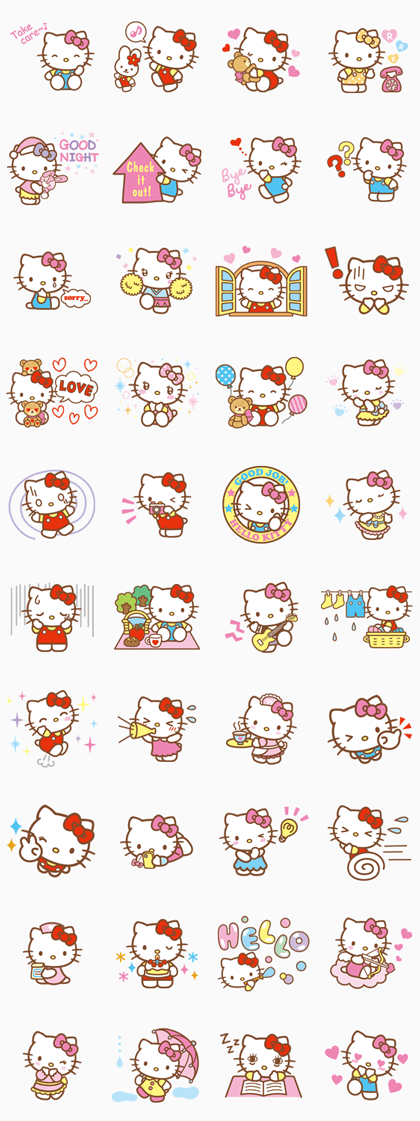 Hello Kitty Animated Stickers Line Sticker Hello Kitty Backgrounds Hello Kitty Wallpaper Hello Kitty Images