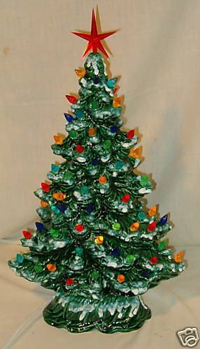 Ceramic Christmas Tree Decorations.Window Sill Christmas Tree 16 18 Light Kit Base Ceramic