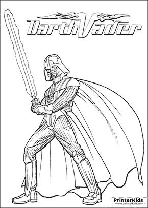 star wars mighty darth vader coloring page