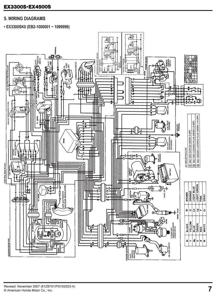 Honda Generator Wiring Diagram Pdf : Amazon honda ex generator service repair