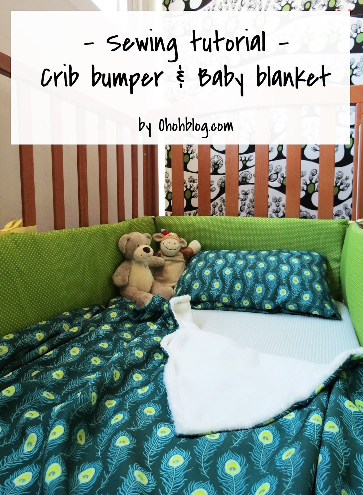 How to sew a crib bumper and a baby blanket   Baby crib ...