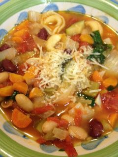 Kitchen Queen Eats Clean: Clean Eating Vegetable Minestrone Soup