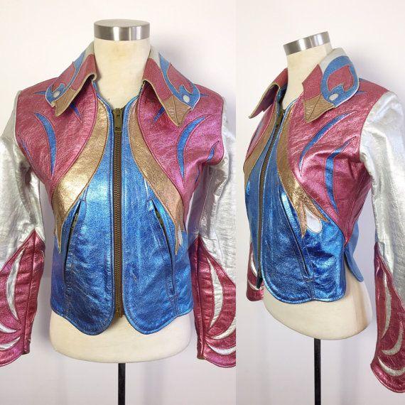 rare vintage east west musical instruments parrot jacket 1960s leather designer jacket 1970s. Black Bedroom Furniture Sets. Home Design Ideas