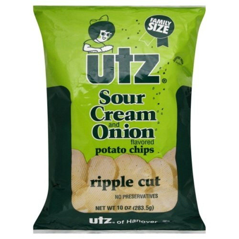 Utz potato chips family size bags 95 oz case of 12 sour