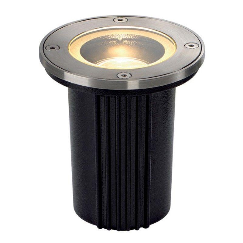 Slv 228430 Gu10 Round Outdoor Ground Light In Brushed Stainless Steel Teichbeleuchtung Led Deckenbeleuchtung Bodeneinbaustrahler