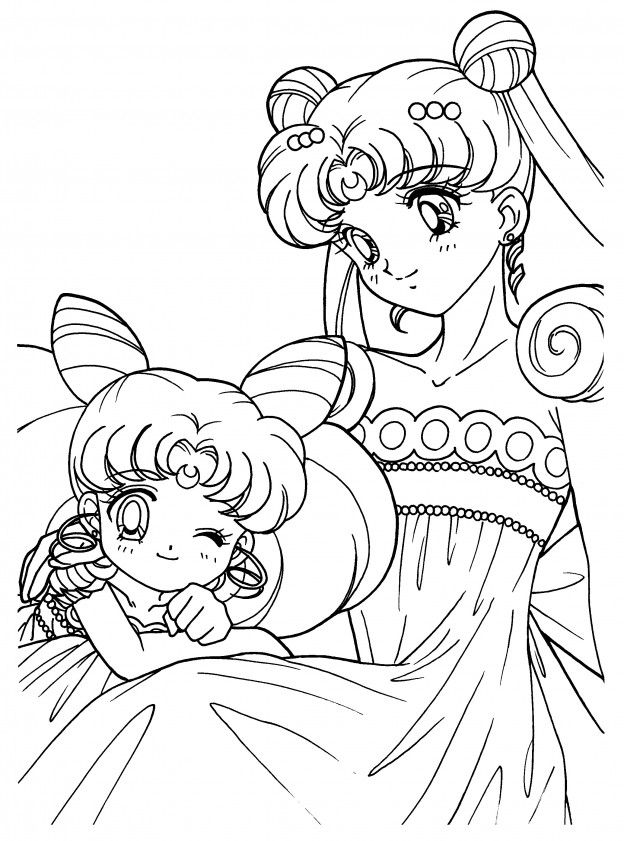Sailor Coliring 64 Coloring Page - Free Sailor Moon Coloring Pages ... | 841x624