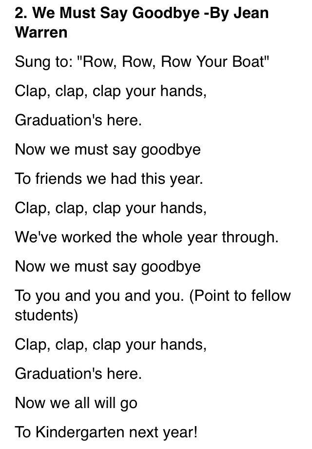 preschool graduation poems and songs graduation song preschool graduation songs 211