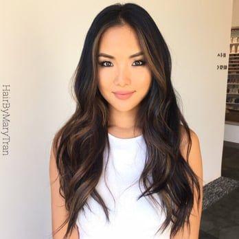 Soft Blending Chocolate Subtle Ombre On Asian Hair Yelp Asian Hair Balayage Hair Hair Color Asian