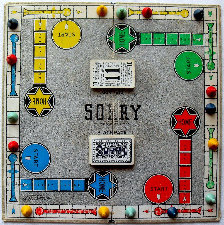 1950 Parker Brothers SORRY Vintage Game 1950s A Vintage