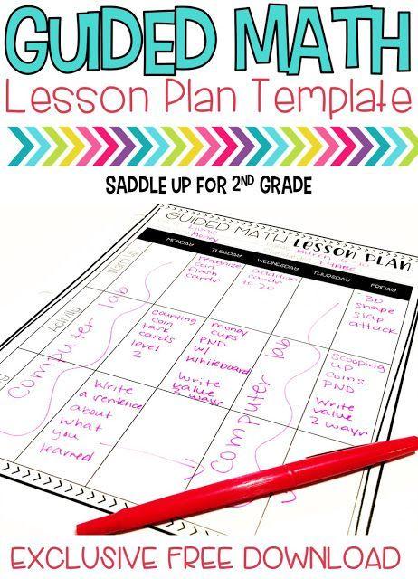 Guided Math Break Down Lesson Plan Templates Math And Guided Math
