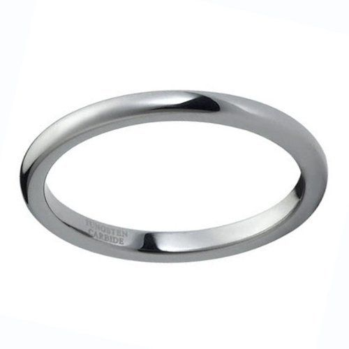 Pure 2mm Sterling Silver 925 Ring Classic Domed Band Ship from USA Gift box