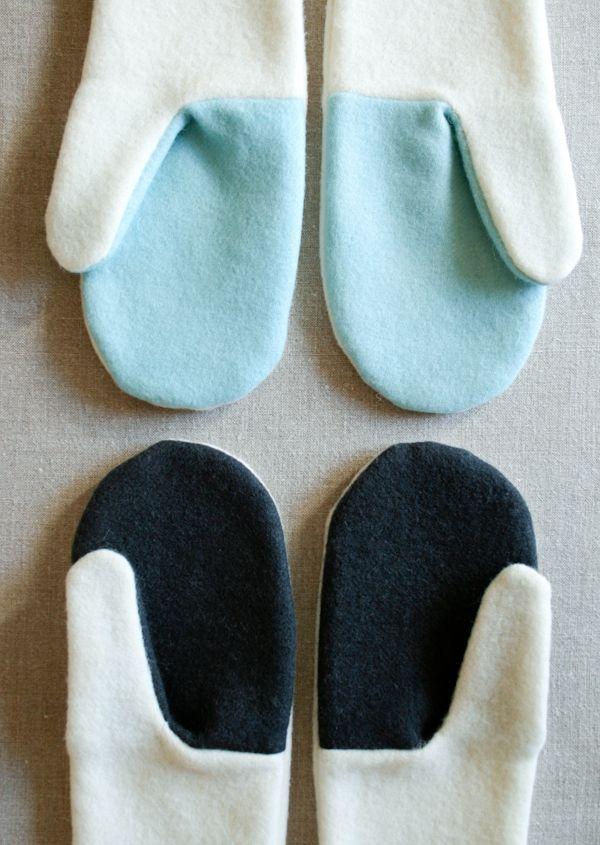 Simple Felted Wool Mittens | Handschuh, Nähen und Faden