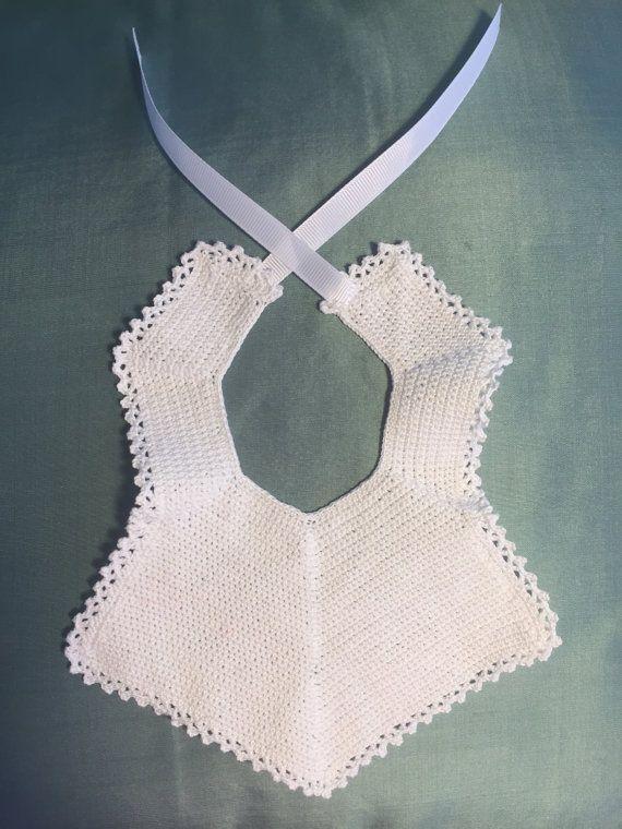 Crochet Baby Bib  FREE SHIPPING by muskunalove on Etsy