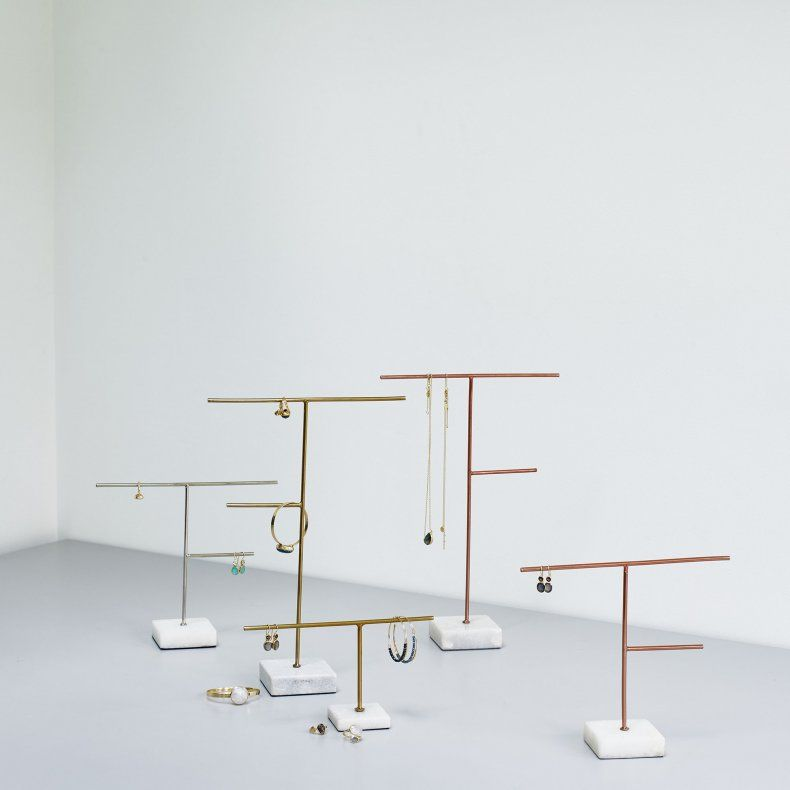 41c3dd311 Large Copper & Marble Jewellery Stand | H O M E | Marble jewelry ...