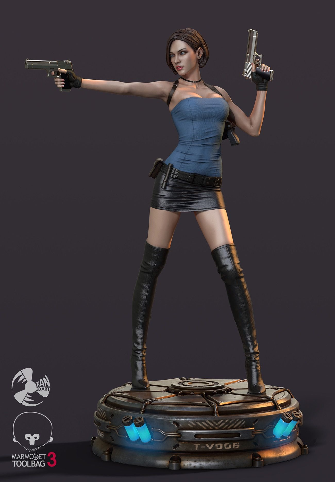 Jill Valentine Resident Evil Nemesis By Fan 3dart