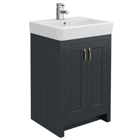 Chatsworth Traditional Graphite Vanity Wide Hubby
