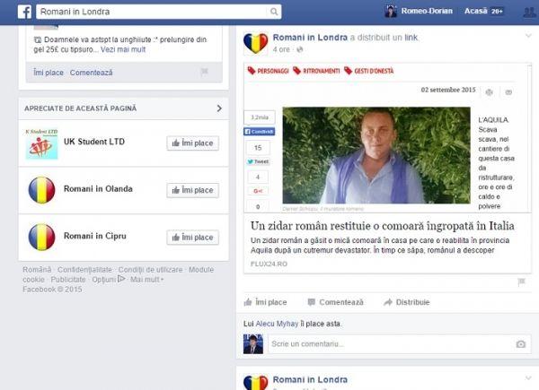 Un român din Italia a restituit o comoara gasita