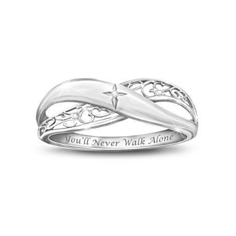 Pure Faith Engraved Silver Diamond Ring For Daughter #iammarried