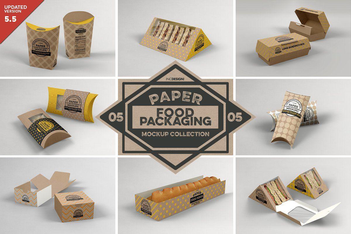 Download Vol 5 Food Box Packaging Mockups Packaging Mockup Design Mockup Free Free Packaging Mockup